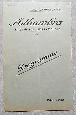 Programme ALHAMBRA Reims REPORTAGE Grant Withers INTRIGUES Greta Garbo 1931