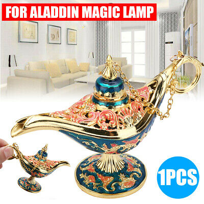 Aladdin Lamp Magic Lamp Retro Creative Censer Genie Light Oil Lamp Zinc Alloy