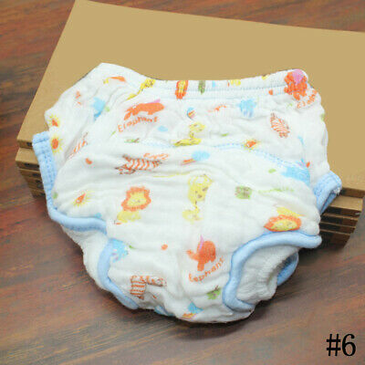 #6 Newborn Baby Reusable Washable Nappies Cover Diaper Infant Adjustable Cloth