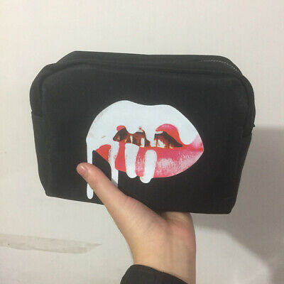 Women Zipper Lip Make Up Storage  Travel Cosmetic Organizer Bag Portable