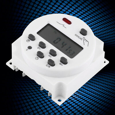 CN101A 16A LCD Digital Programmable Control Power Timer Switch Time Relay White