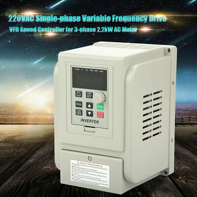AC220V Single-phase Variable Frequency Drive Speed Controller 2.2kW Motor VFD zg