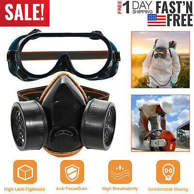 Fire Protection Anti-dust Respirator Mask Filter Industrial Paint Spraying Protective Facepiece