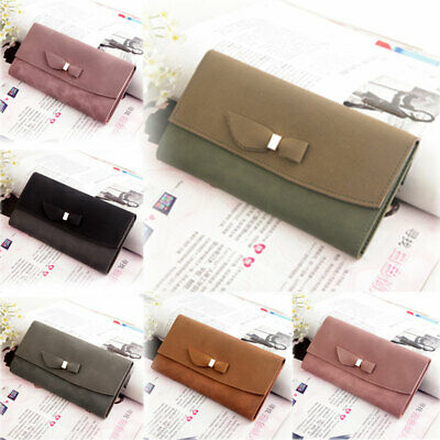 New Women Leather Wallet Lady Card Coin Holder Long Purse Clutch bifold Bag