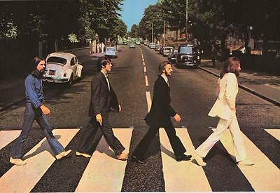 "The Beatles Abbey Road Crosswalk Poster Approximately 24"" x 36"" Paul is Dead"