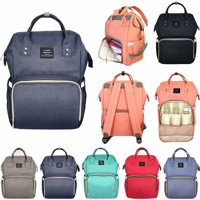 Multi-use Large Mummy Baby Diaper Nappy Backpack Mom Changing Travel Bag Fashion