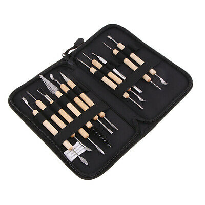 11x Clay Sculpting Wax Carving Pottery Tool Kit Shaper Polymer Modeling Set