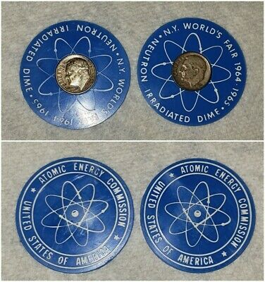 1964-65 New York Worlds Fair Atomic Energy Commission 1951 1954 Roosevelt Dime