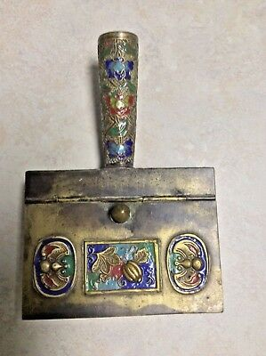 "Vintage Chinese ""Silent Butler"" with cloissone handle"