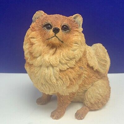Chow figurine vintage resin puppy dog Songshi Quan puffy lion sculpture statue