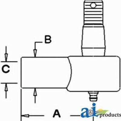 Cylinder End, Power Steering (Front) D9NN3A302AB