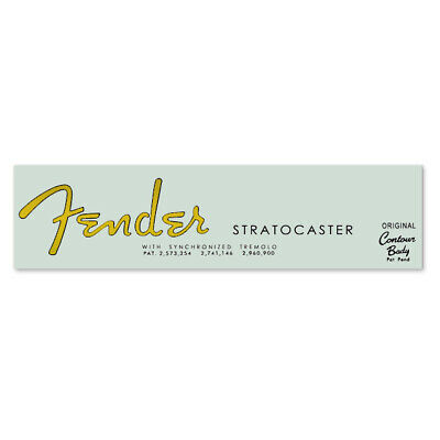 Fender® 1963 Stratocaster® Strat® Waterslide Headstock Decal in GOLD FOIL