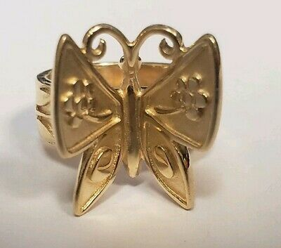 1572f3c6c James Avery 14K Gold Mariposa Ring Rare & Retired Butterfly Size 7.5 J23802