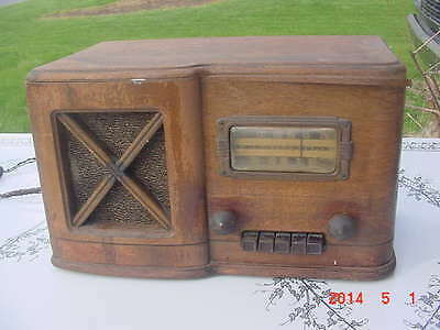 Vintage Rare 1939 Sears Catalog Silvertone 7251 Tube Radio Wood Case Art Deco