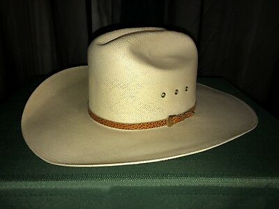687bbe4cefa7c LARRY MAHAN S MILANO Hat Collection Size 7 Handwoven Western Cowboy ...