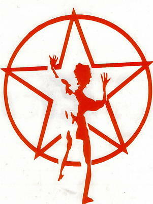 Rush Starman Peel And Rub On Red Large 13 Inch Vinyl Decal !