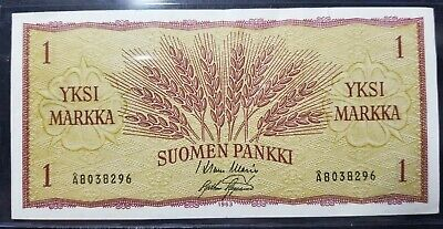 Banknote, Finland, 1 Markkaa, 1963, 1963, KM:98, VF VERY DIFFICULT NOTES FIND