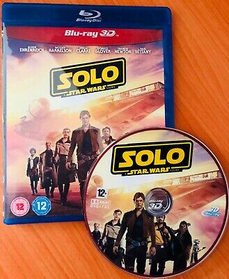 Solo: A Star Wars Story (2018, Blu-ray 3D disc)