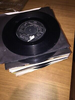 "64 - job lot 47 x the beatles and solo  7"" vinyl single records Listed"