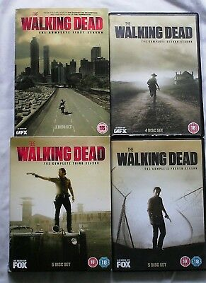 The Walking Dead  Series 1 - 4 DVDs Zombies The End of Civilization