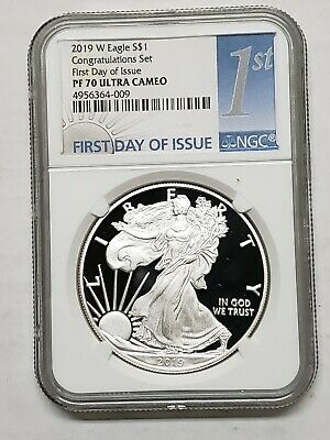 2019 W Congratulations Set Silver Eagle NGC PF70 Coin First Day Proof SKU C21