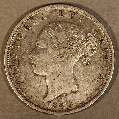 1881 Great Britain 1/2 Crown Circulated Silver          ** FREE U.S. SHIPPING **