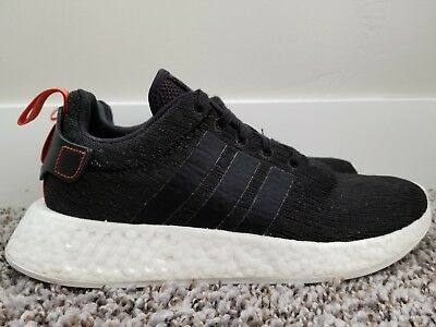 5dc91b922 Adidas NMD R2 Boost Core Black White Future Harvest Sneakers CG3384 Men s  Size 8