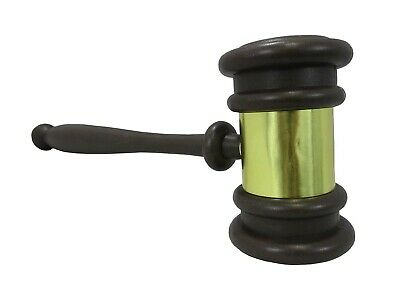 Auction Judges Gavel Hammer Prop Mallet Brown Plastic Costume Accessory Toy