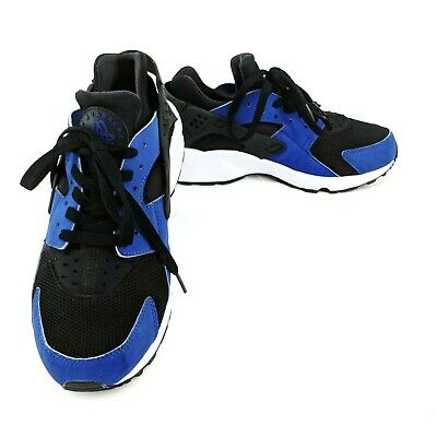 buy popular aa648 47b9e Nike Mens Air Huarache Running Shoes Deep Royal Blue Black-White 318429-