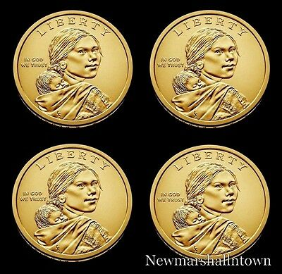 2018 2019 P+D Native American Sacagawea Business Strikes from US Mint Roll