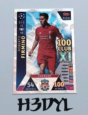 MATCH ATTAX Champions League  2018/19 Roberto Firmino 100 Club #439