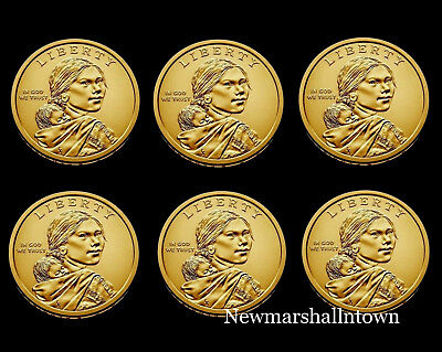 2017 2018 2019 P+D Native American Sacagawea Business Strike from US Mint Roll