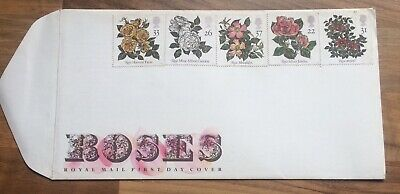 G.B. 1991 Roses set on u/a Royal Mail First Day Cover, Rose Society