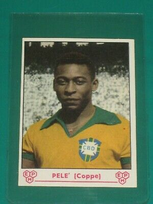 EXTREMELY RARE CARD PELE' FROM 60's - PANINI COLLECTION