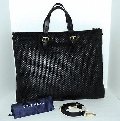 1b4fa40d2 COLE HAAN ~ Signature Weave Small Tote Handbag~Optic White~Retail ...