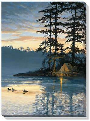 Peace & Quiet - Loons Wrapped Canvas by Persis Clayton Weirs