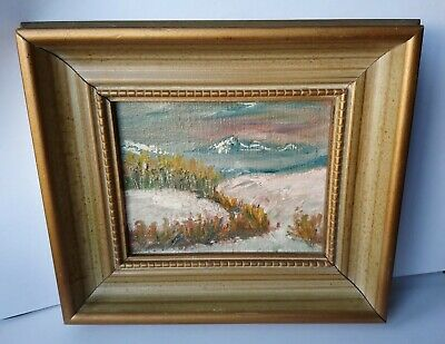 Vintage American Oil Painting by EDNA SHROYER of Mountain scene New Mexico