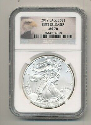 2012 American Silver Eagle 1 oz Coin NGC MS 70 First Releases Exact Shown