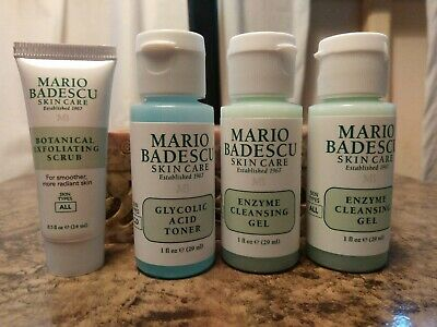 4 X Mario Badescu Enzyme Cleansing Gel Face Cleanser