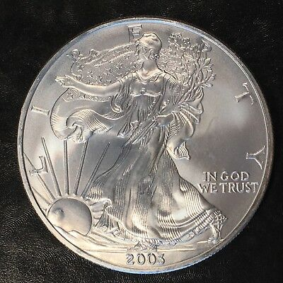2003 Uncirculated American Silver Eagle US Mint Issue 1oz Pure Silver #H201