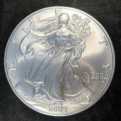2004 Uncirculated American Silver Eagle US Mint Issue 1oz Pure Silver #H217
