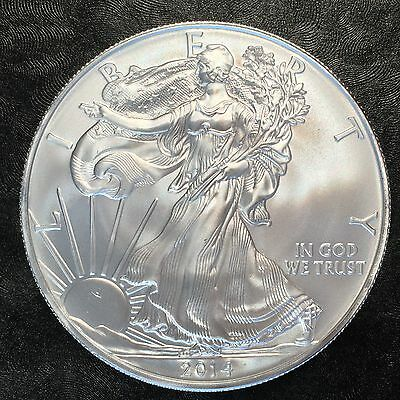 2014 Uncirculated American Silver Eagle US Mint Issue 1oz Pure Silver #D833