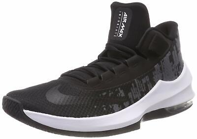 6a4ecce70c Nike Men's Air Max Infuriate 2 Mid Basketball Shoe Black/White/Anthracite  Size