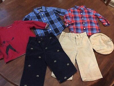 3f787b778 JANIE AND JACK Football Classic Boys Plaid Pants Size 12-18 Months ...