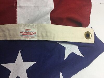"""Best American 50 Star Flag 57"""" x 120"""" Valley Forge Flag Co 100% Cotton USA"""