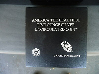 2012 P 5-ounce silver Acadia National Park quarter (with box and COA)