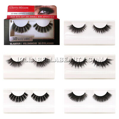 169f1f168b0 Cherry Blossom 3D Volume Mink Aspired Eyelashes Glamour False Extension *1  Style