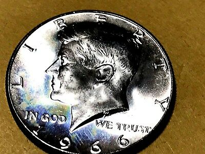 1966 Kennedy Half Dollar 40% Silver from SMS set FREE S/H in Holder NICE COIN
