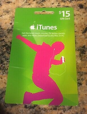 Apple App Store & iTunes $15 Physical Gift Card