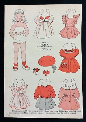 UNCUT 1987 Lauren Welker Spiegel/'s Delights from 1949 Paper Doll